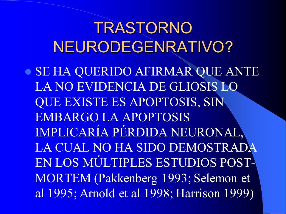 TRASTORNO NEURODEGENRATIVO