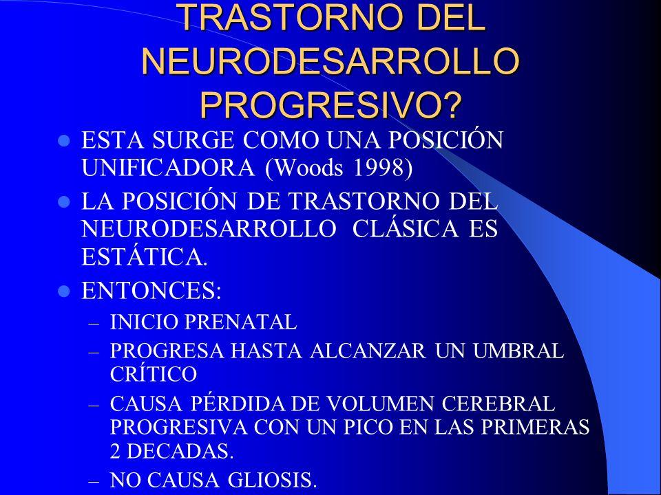TRASTORNO DEL NEURODESARROLLO PROGRESIVO