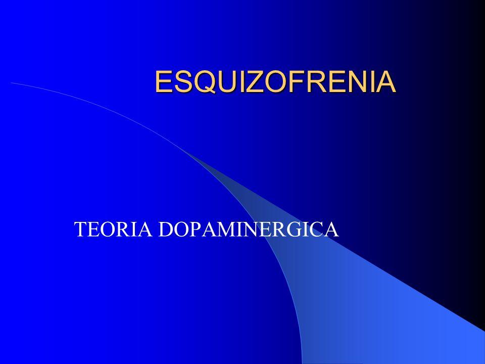 ESQUIZOFRENIA TEORIA DOPAMINERGICA
