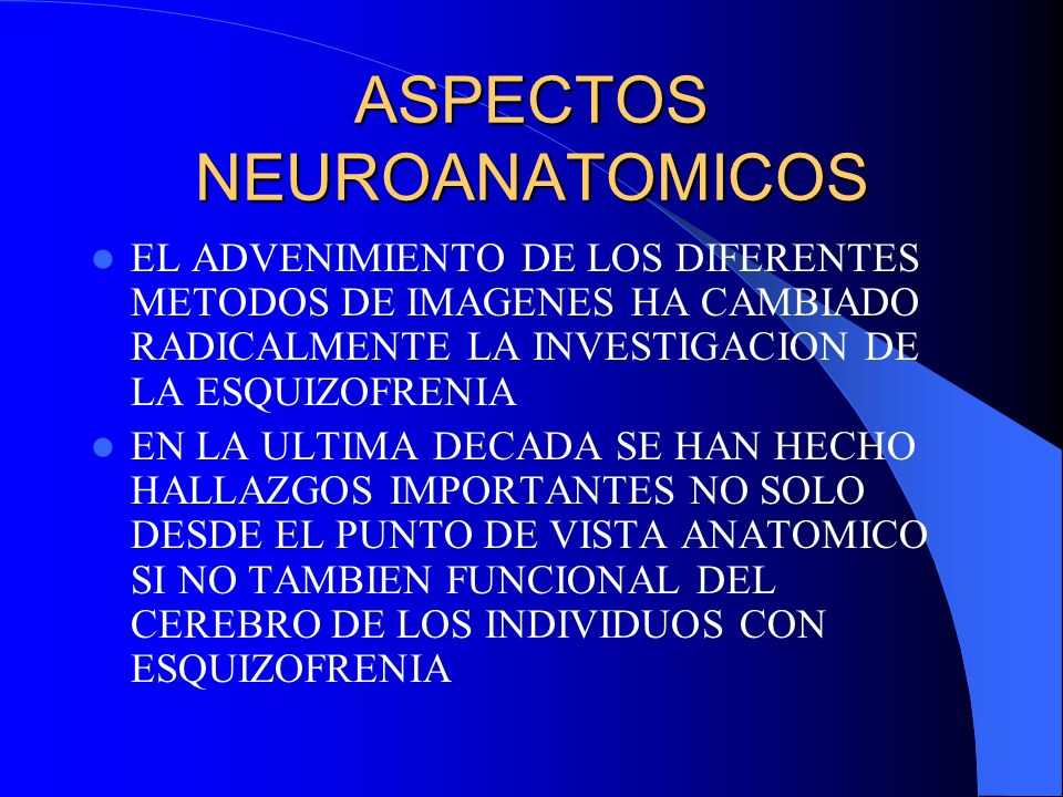 ASPECTOS NEUROANATOMICOS