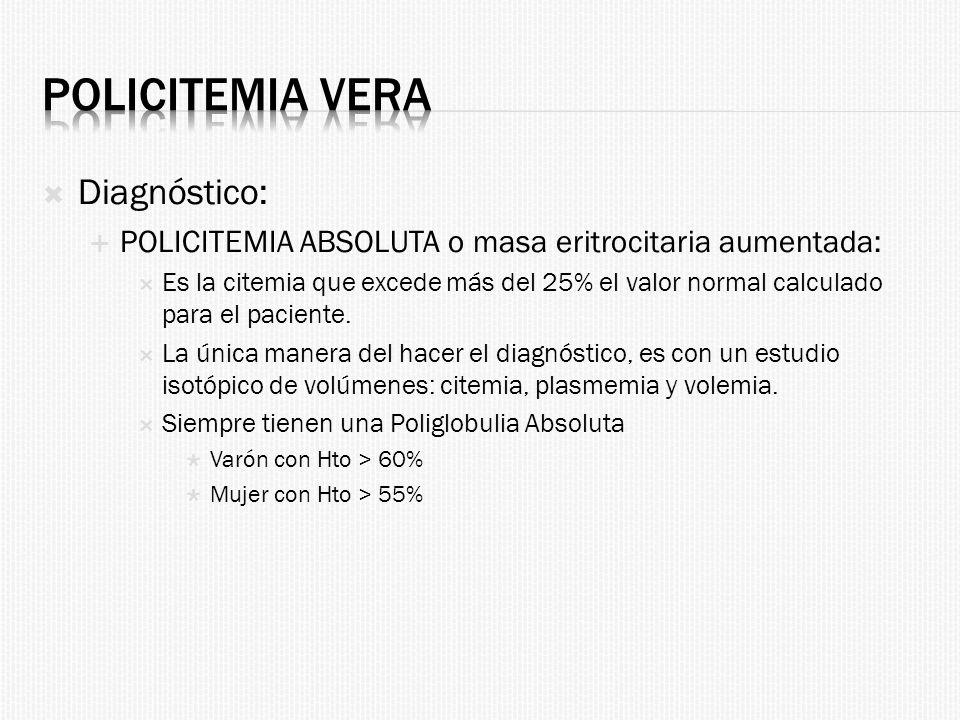 Policitemia Vera Diagnóstico: