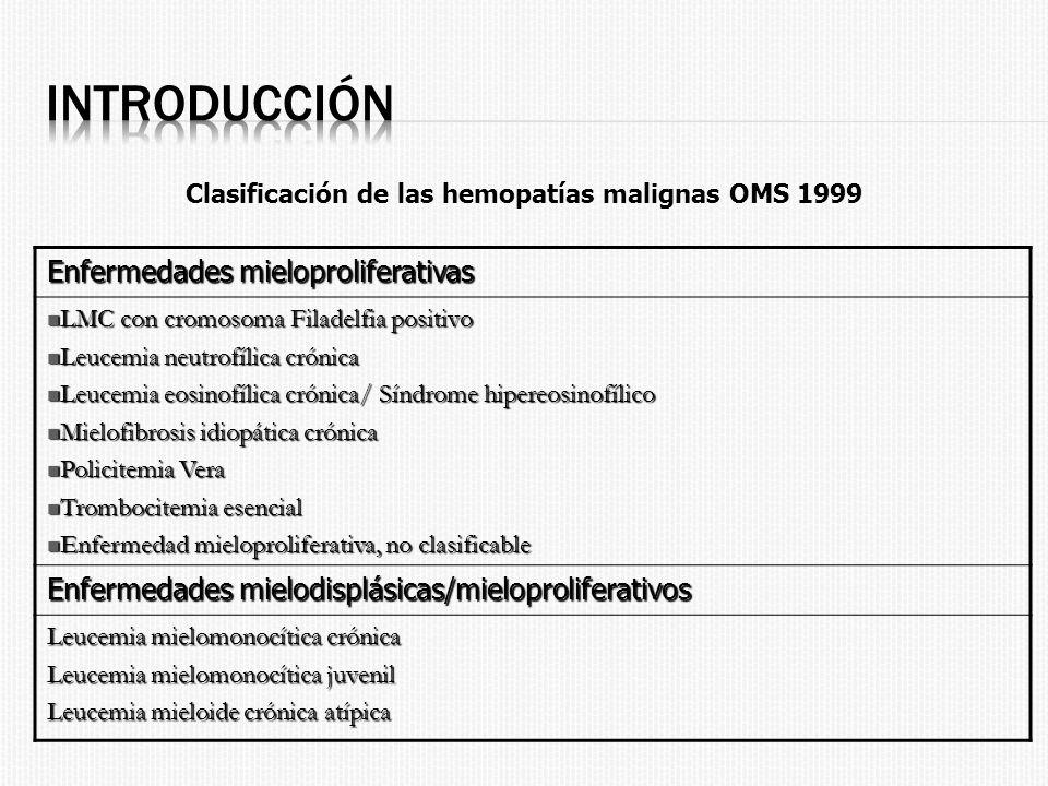 Clasificación de las hemopatías malignas OMS 1999
