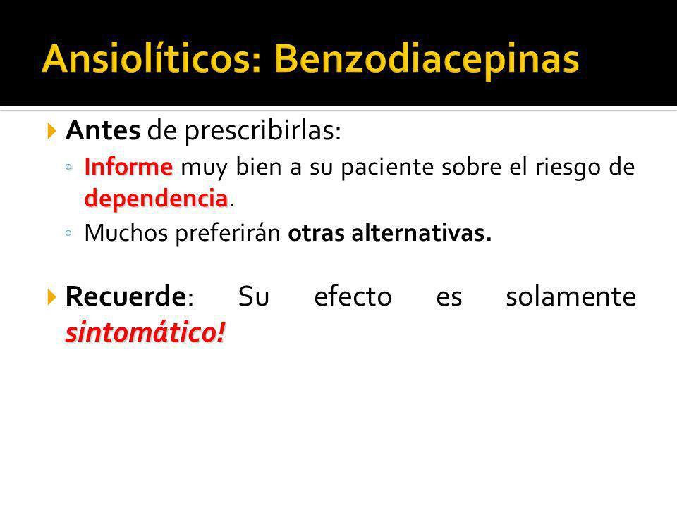 Ansiolíticos: Benzodiacepinas