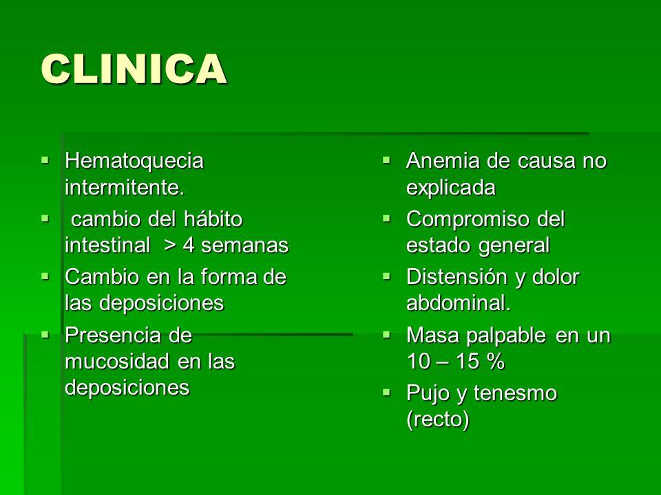 CLINICA Hematoquecia intermitente.