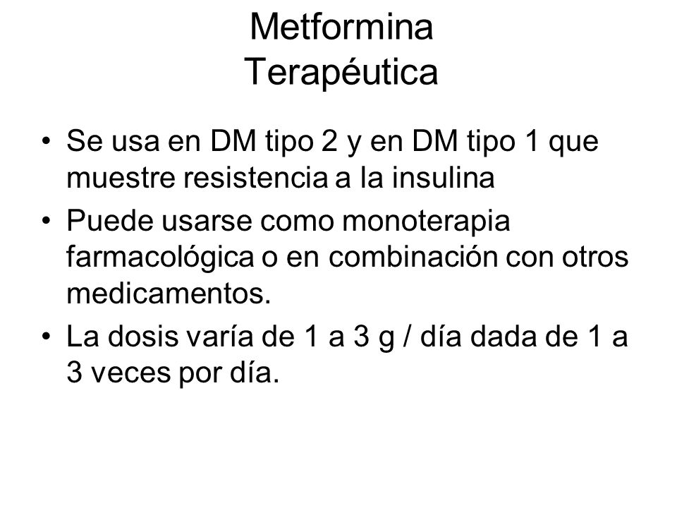 Metformina Terapéutica