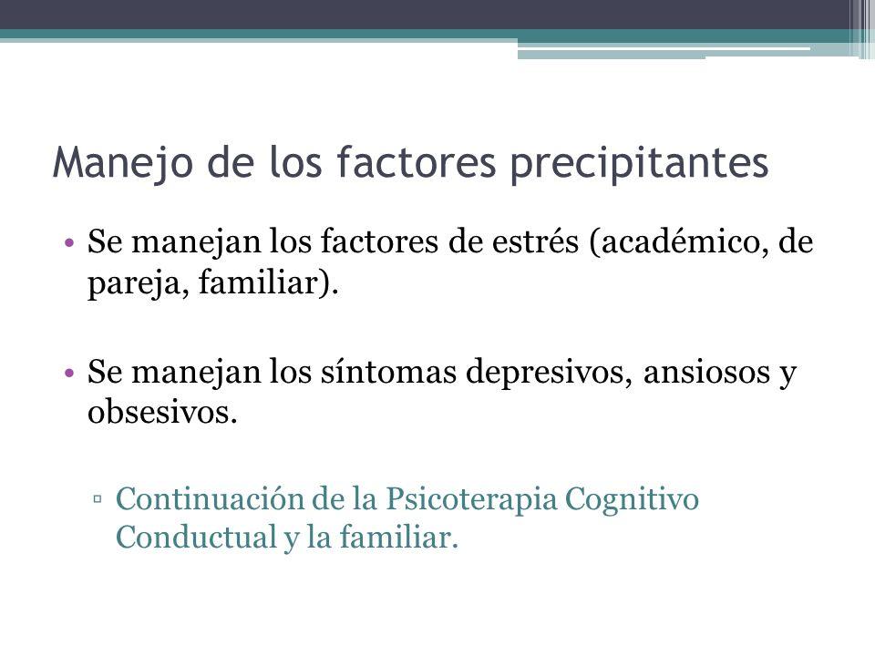Manejo de los factores precipitantes