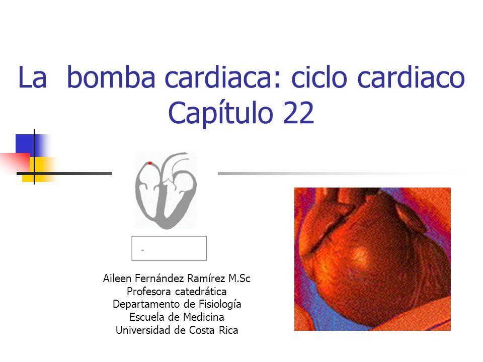La bomba cardiaca: ciclo cardiaco Capítulo 22