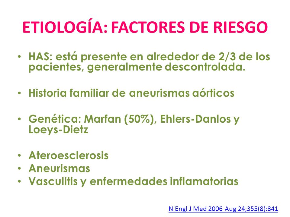ETIOLOGÍA: FACTORES DE RIESGO