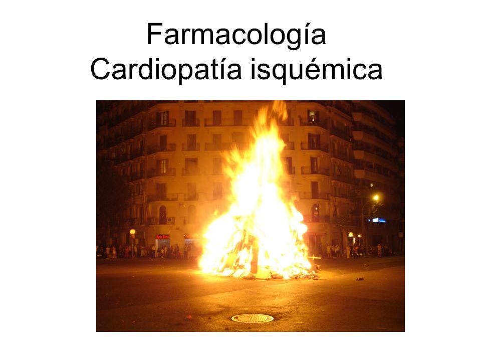 Farmacología Cardiopatía isquémica
