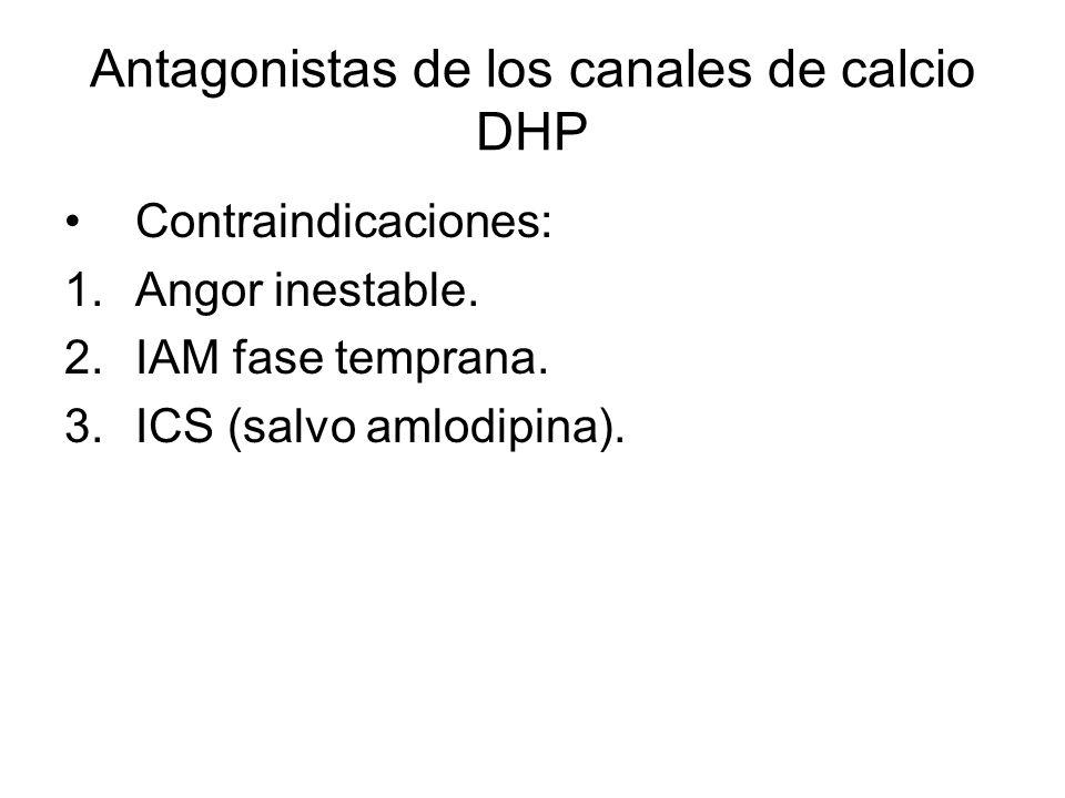 Antagonistas de los canales de calcio DHP