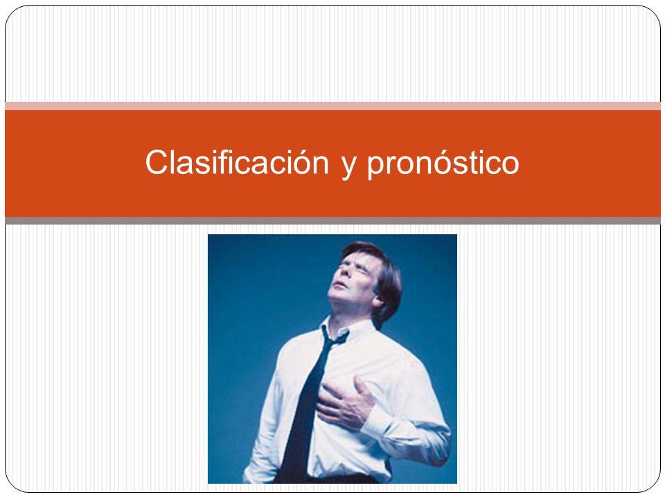Clasificación y pronóstico