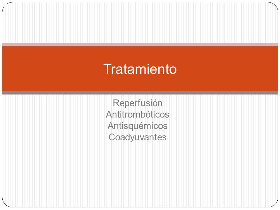 Reperfusión Antitrombóticos Antisquémicos Coadyuvantes