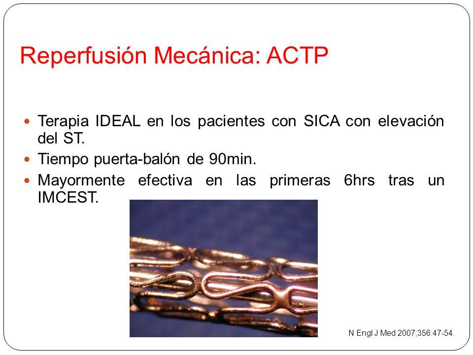 Reperfusión Mecánica: ACTP