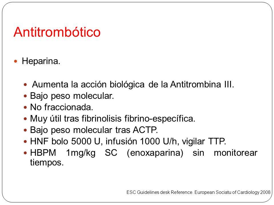 Antitrombótico Heparina.