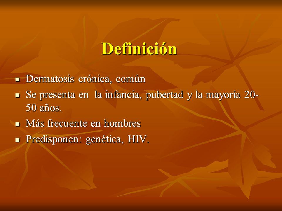 Definición Dermatosis crónica, común