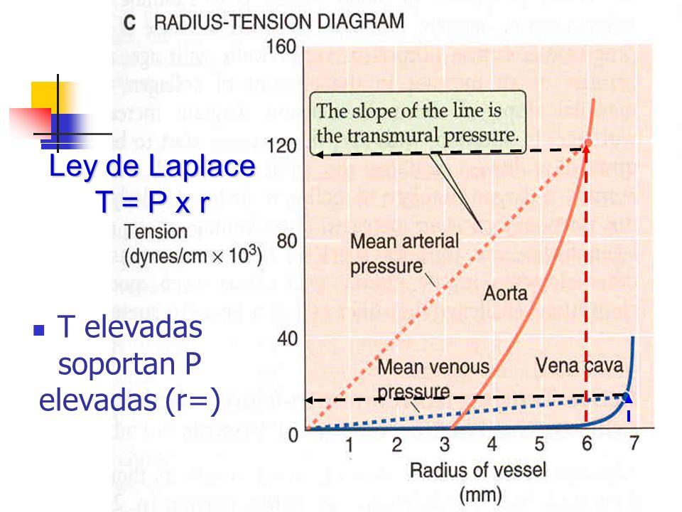 T elevadas soportan P elevadas (r=)