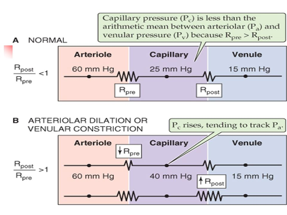 P capilar depende de: Se dijo que delta P depende de la R entre dos puntos (corriente arriba y corriente abajo)