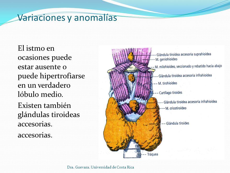Variaciones y anomalías