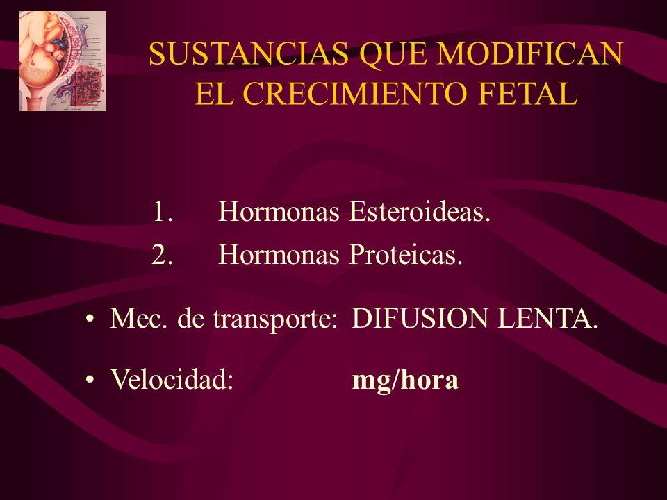 SUSTANCIAS QUE MODIFICAN EL CRECIMIENTO FETAL