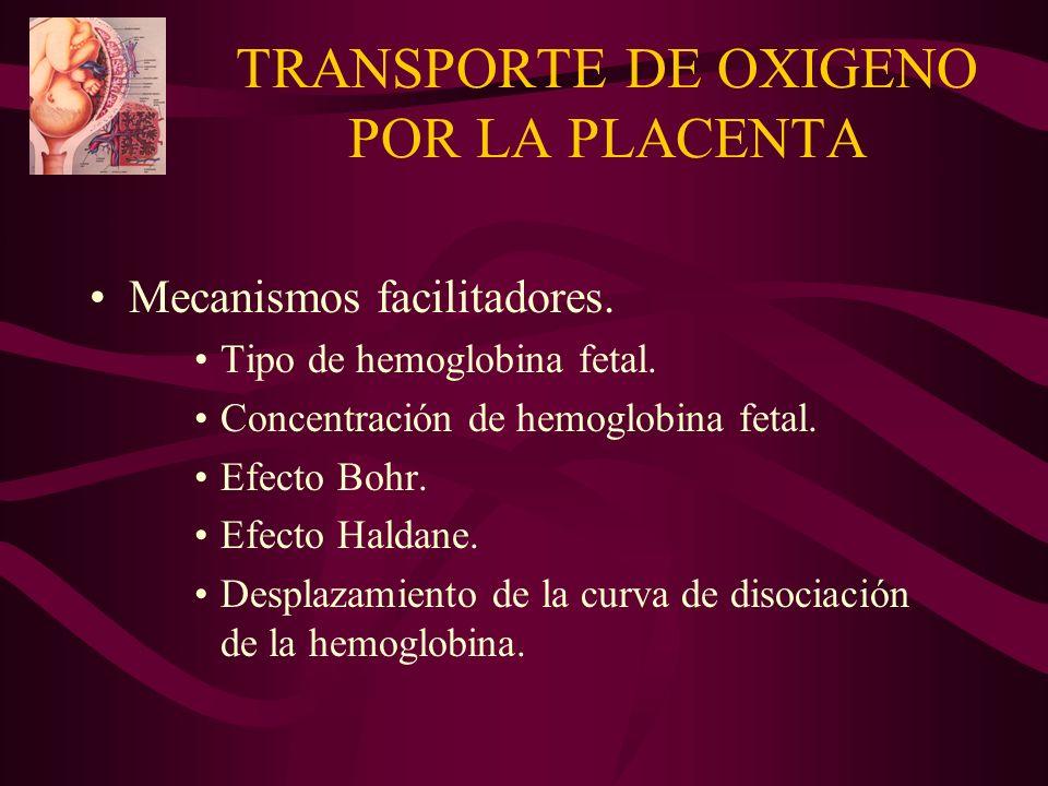 TRANSPORTE DE OXIGENO POR LA PLACENTA
