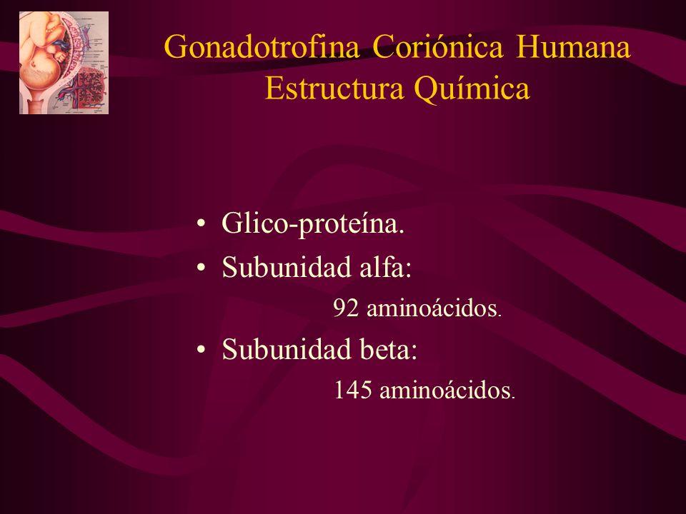 Gonadotrofina Coriónica Humana Estructura Química
