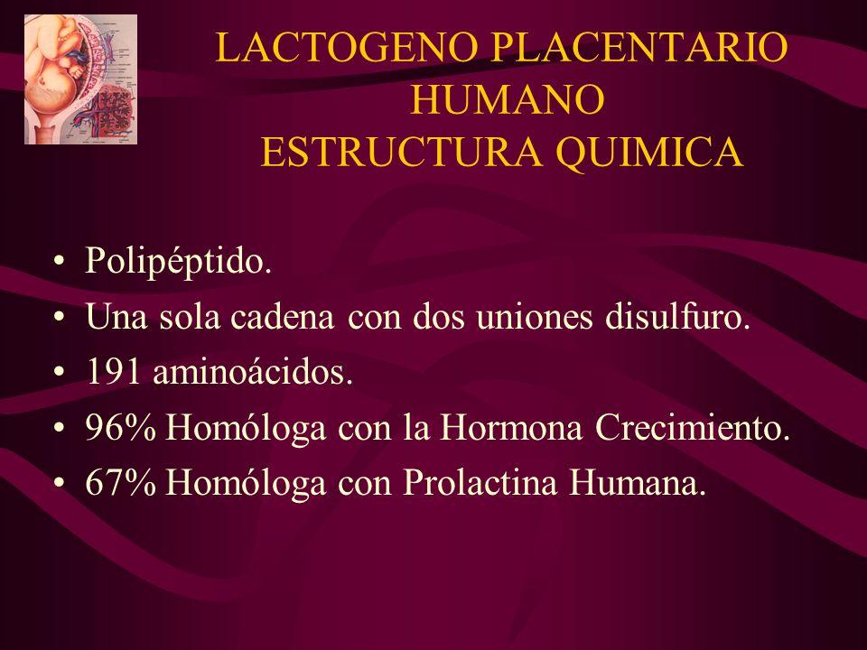 LACTOGENO PLACENTARIO HUMANO ESTRUCTURA QUIMICA