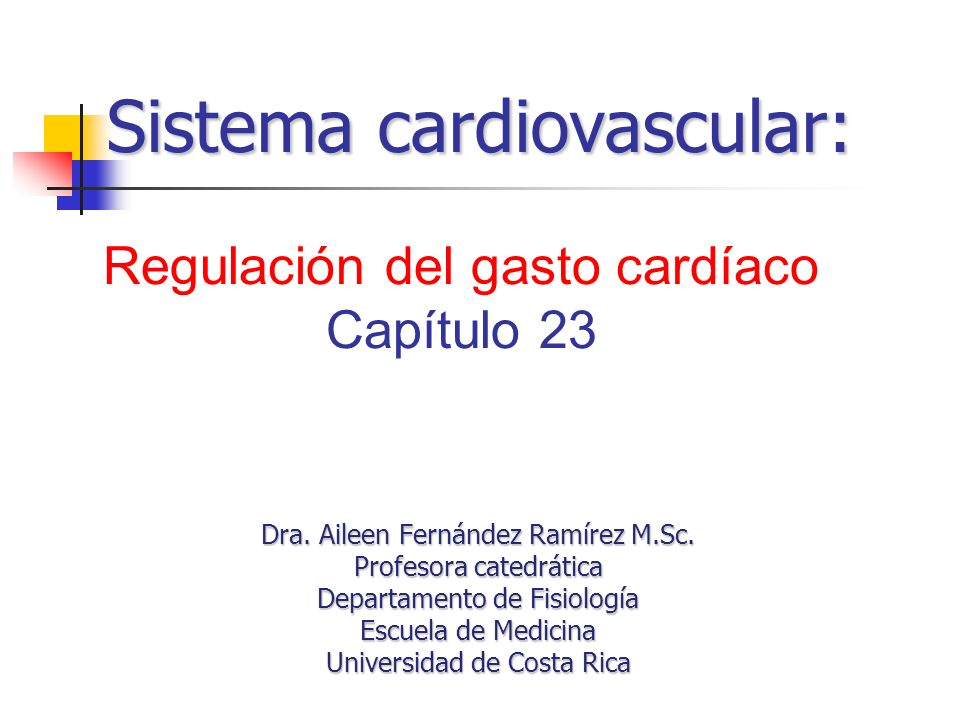 Sistema cardiovascular: