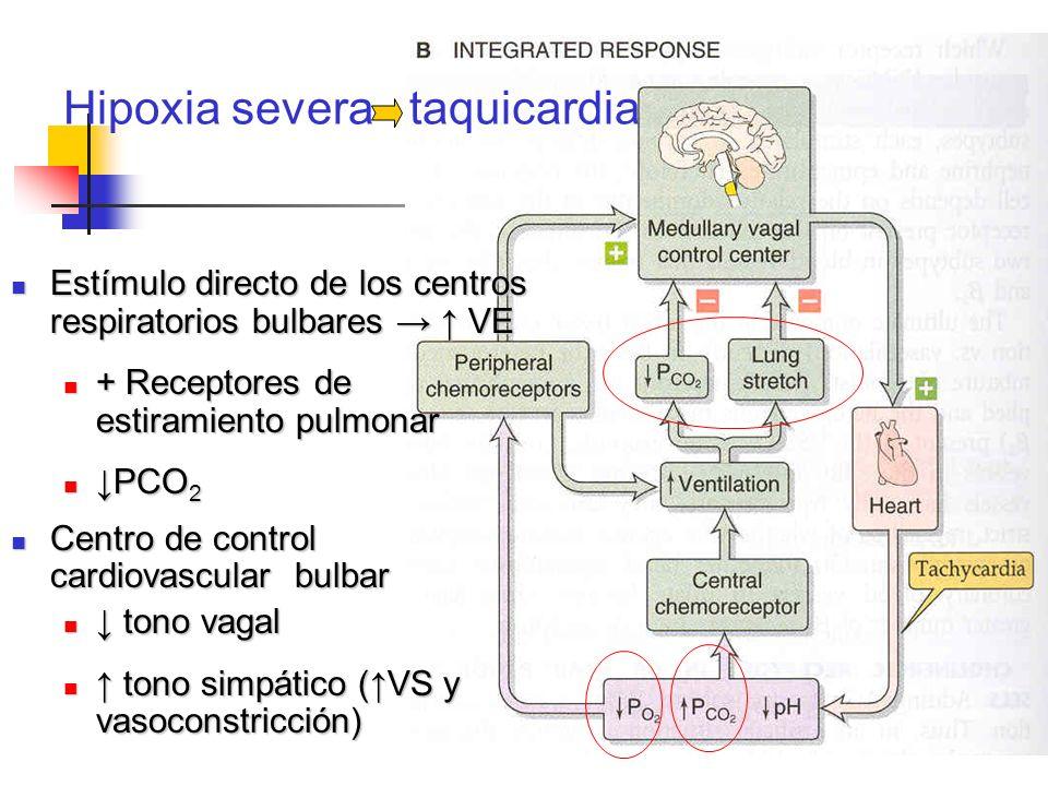 Hipoxia severa taquicardia