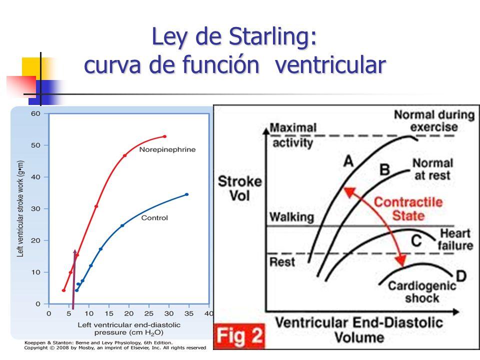 Ley de Starling: curva de función ventricular