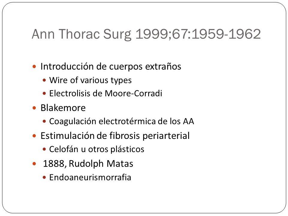 Ann Thorac Surg 1999;67:1959-1962 Introducción de cuerpos extraños