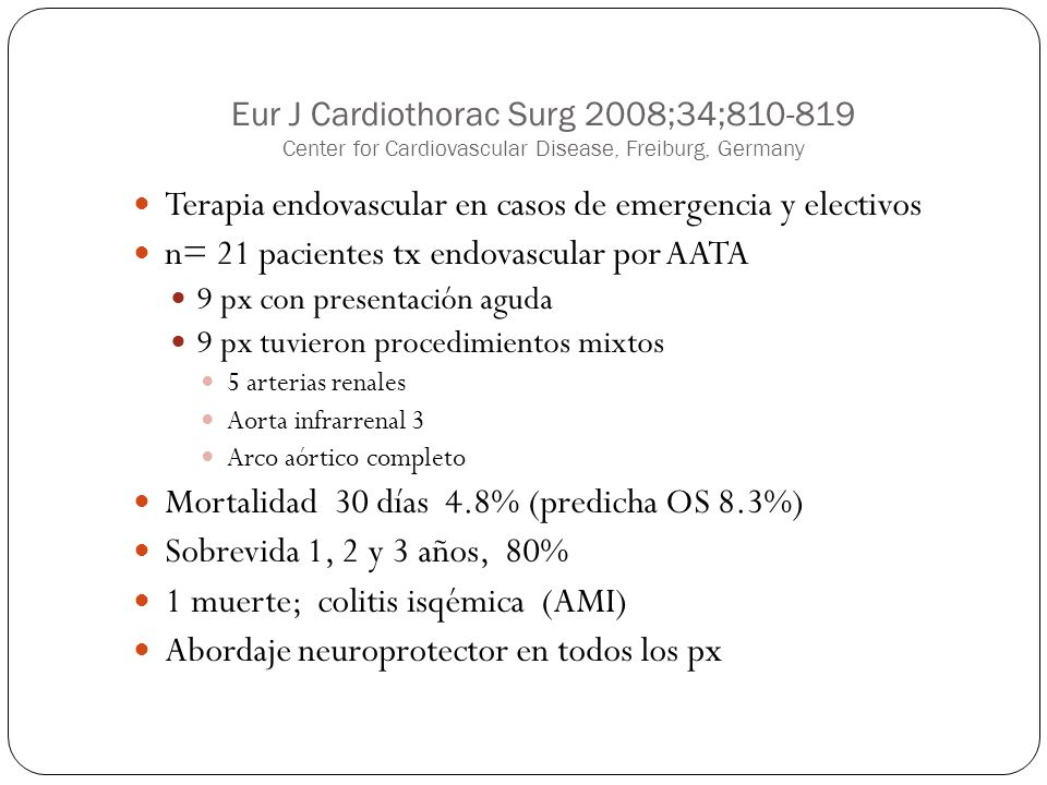 Terapia endovascular en casos de emergencia y electivos