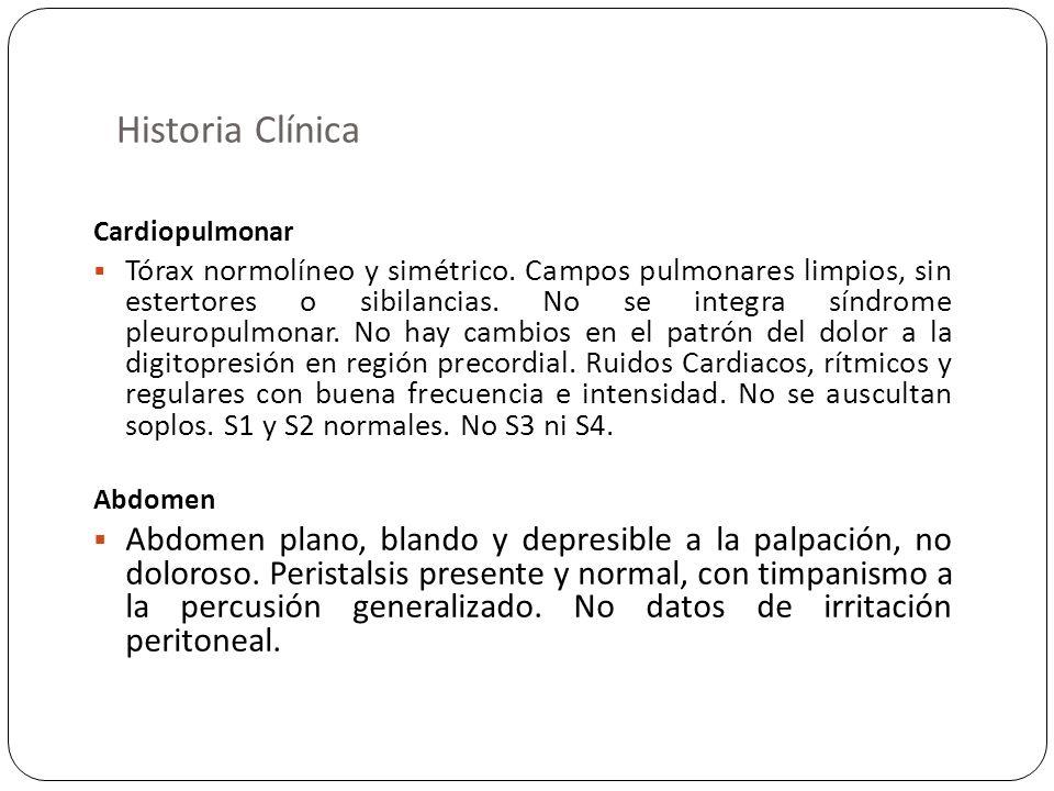 Historia ClínicaCardiopulmonar.