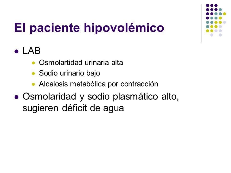El paciente hipovolémico