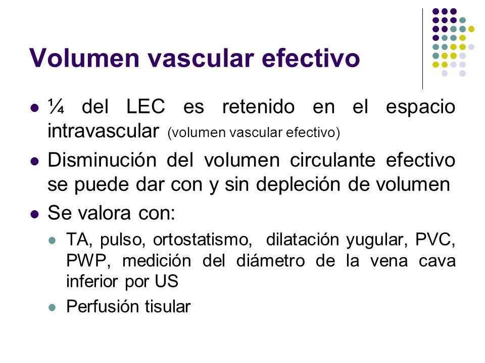 Volumen vascular efectivo