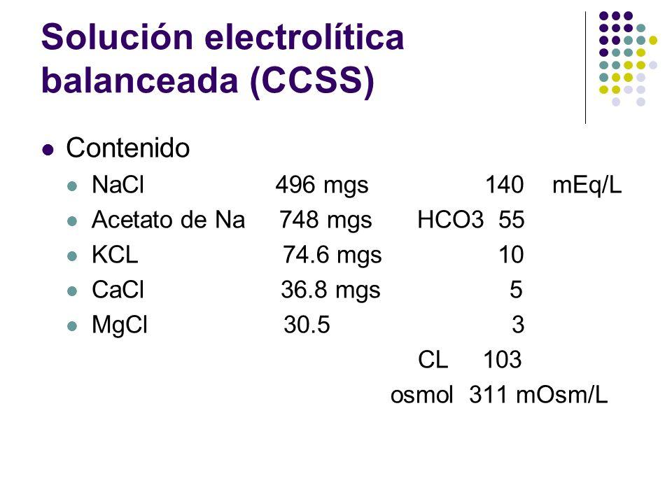 Solución electrolítica balanceada (CCSS)