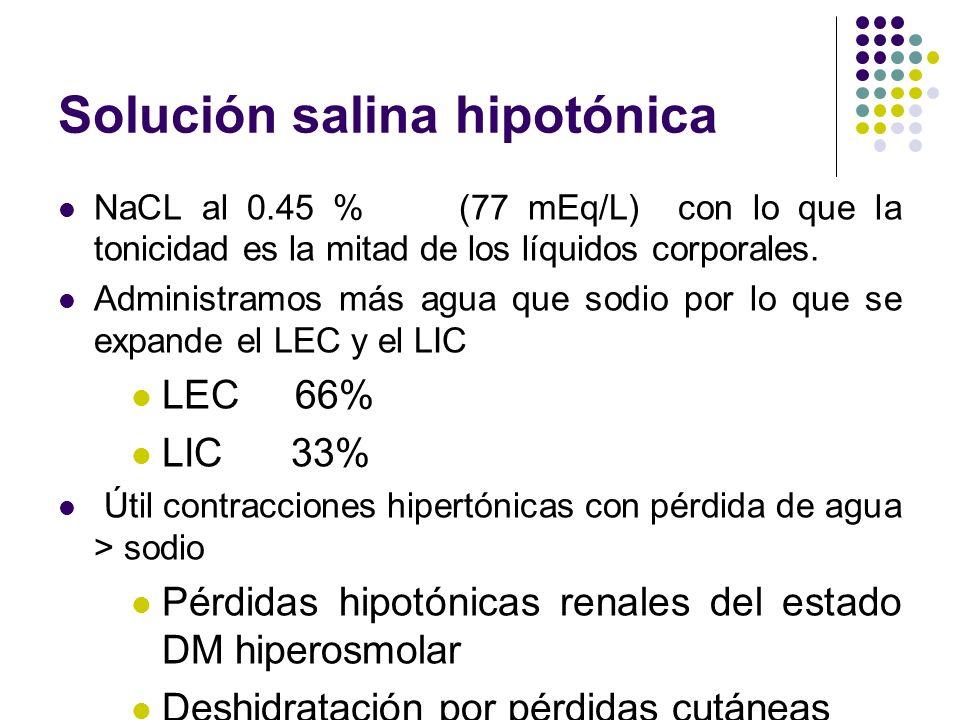 Solución salina hipotónica