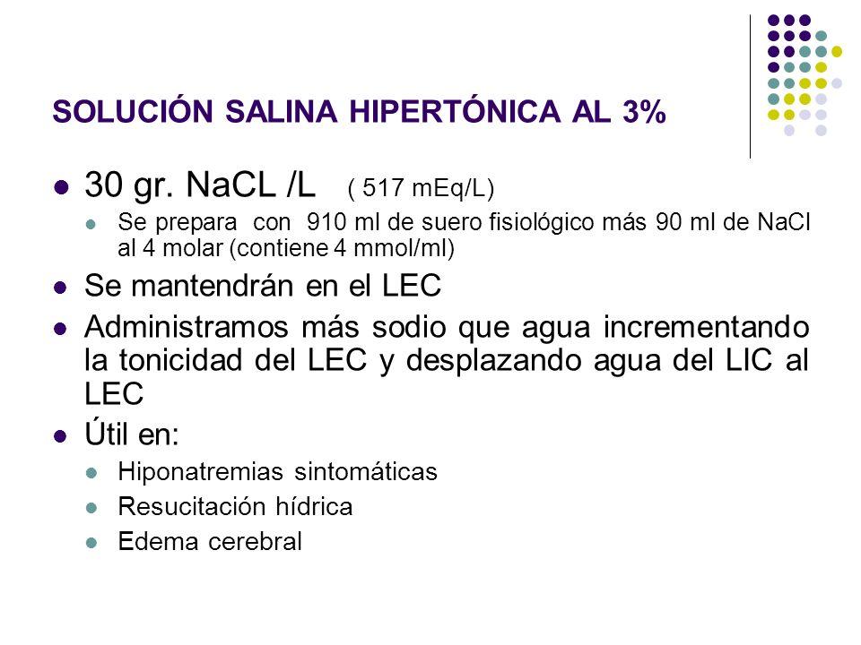 SOLUCIÓN SALINA HIPERTÓNICA AL 3%