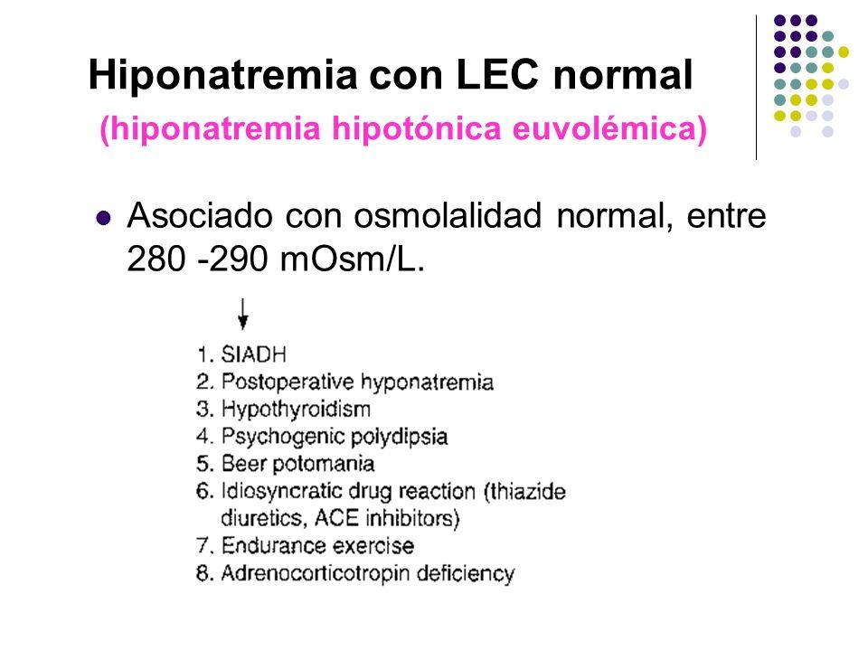 Hiponatremia con LEC normal (hiponatremia hipotónica euvolémica)
