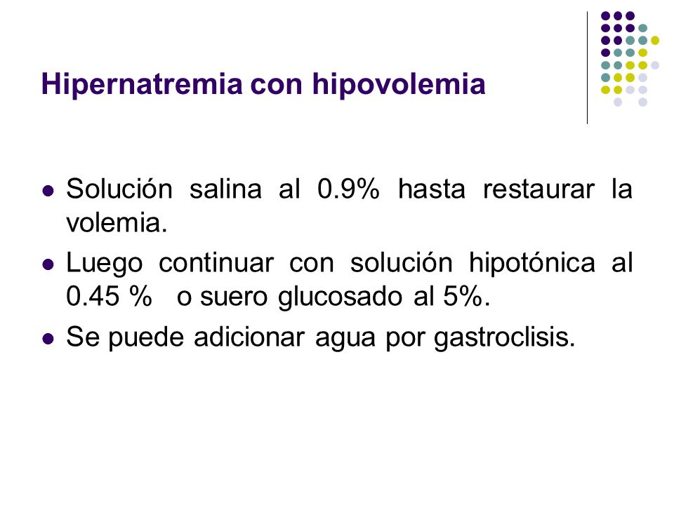 Hipernatremia con hipovolemia
