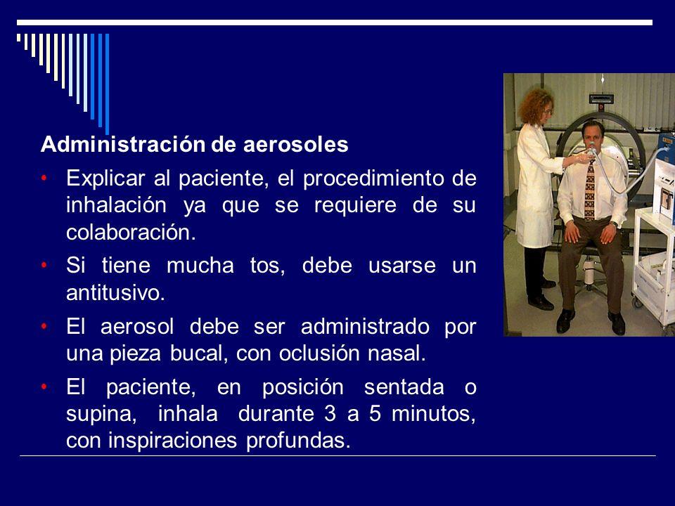 Administración de aerosoles