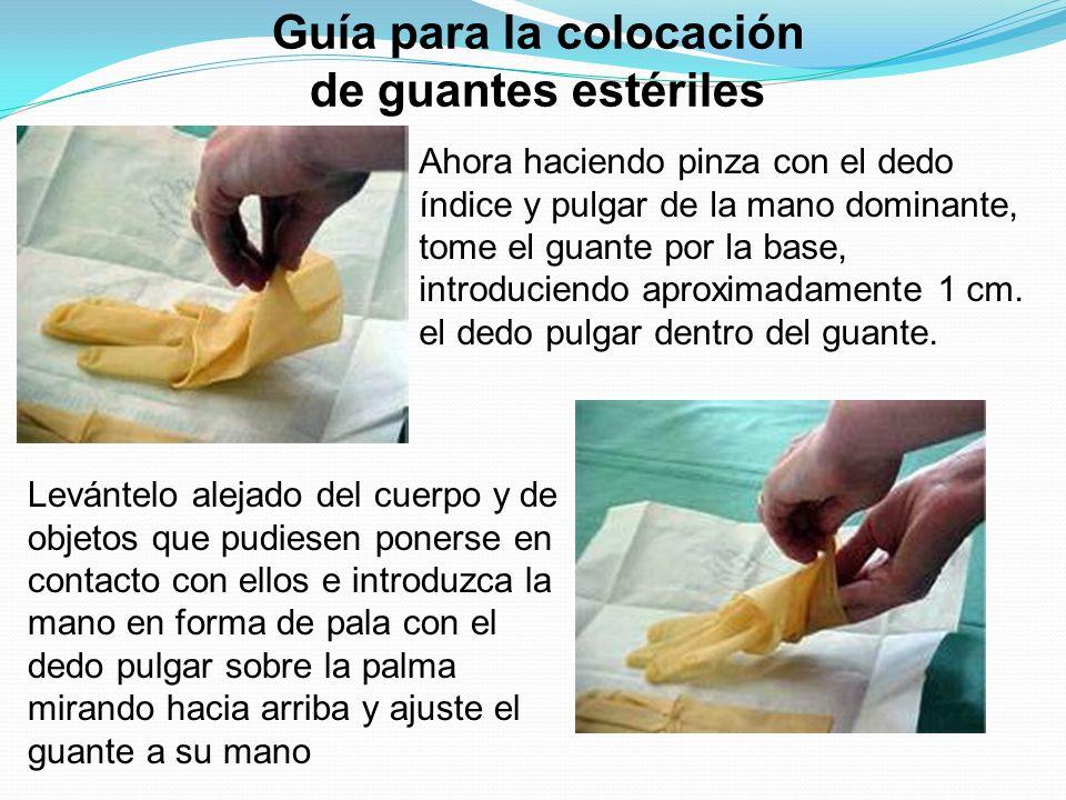 Guía para la colocación de guantes estériles