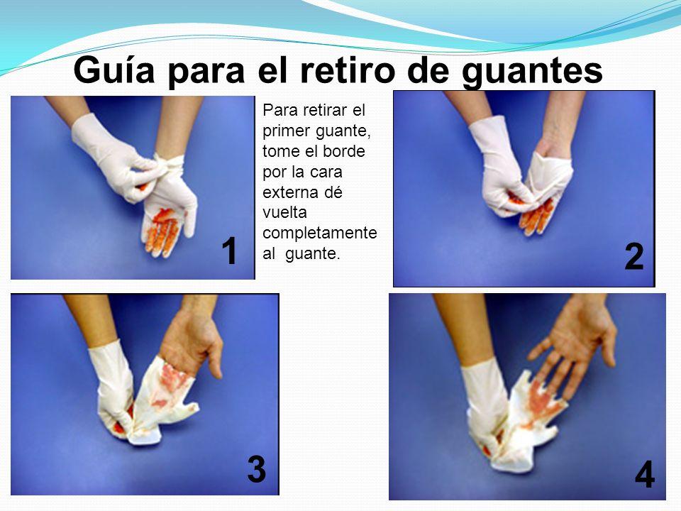 Guía para el retiro de guantes