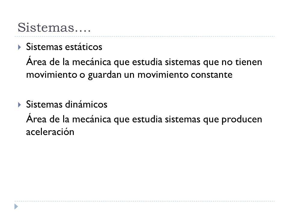 Sistemas…. Sistemas estáticos