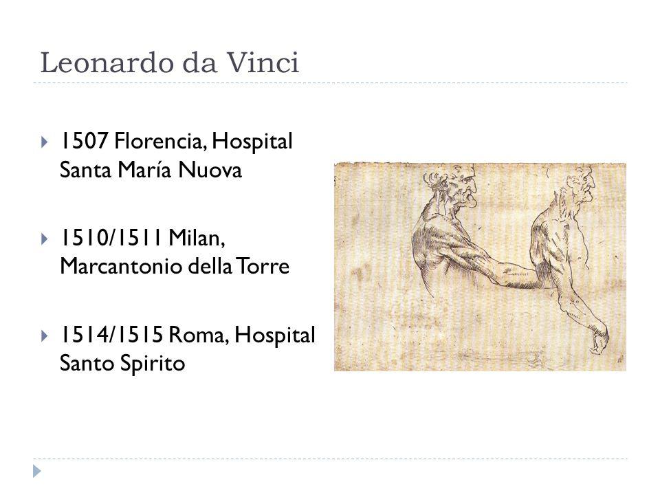 Leonardo da Vinci 1507 Florencia, Hospital Santa María Nuova