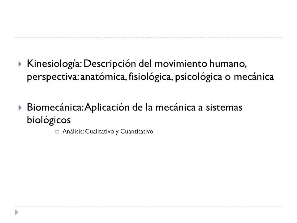 Biomecánica: Aplicación de la mecánica a sistemas biológicos