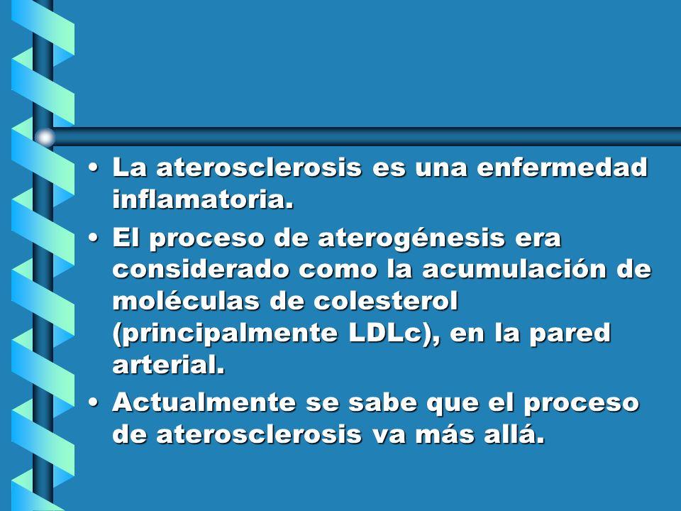 La aterosclerosis es una enfermedad inflamatoria.