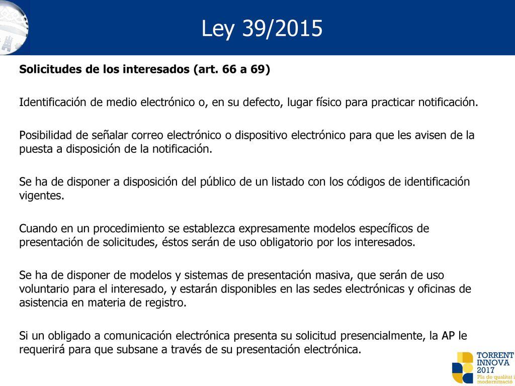 Descargar Ley 39/2015, De 1 De Octubre, Del Procedimiento ...