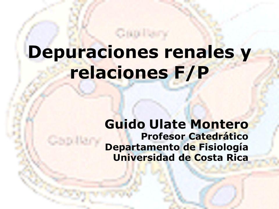 Depuraciones renales y relaciones F/P