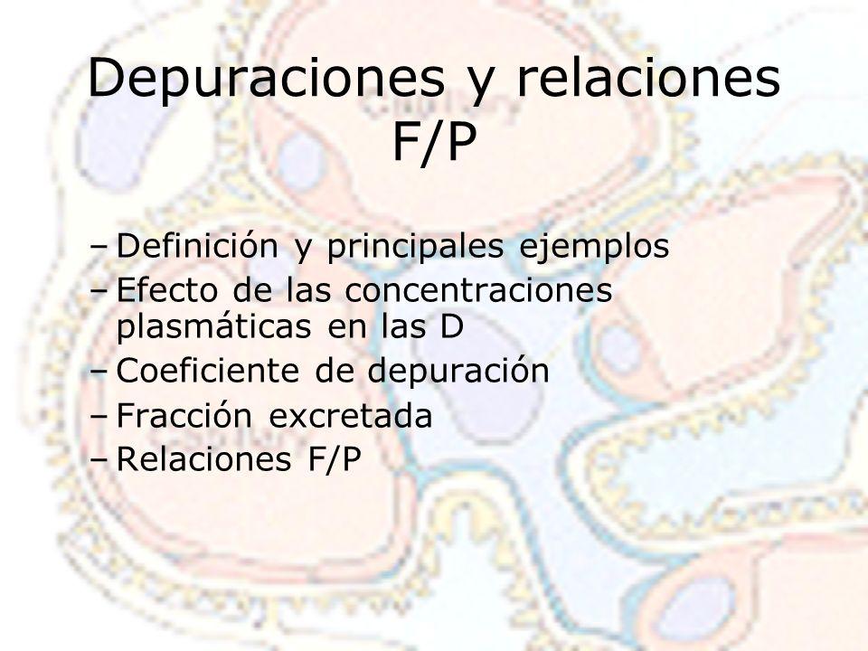 Depuraciones y relaciones F/P
