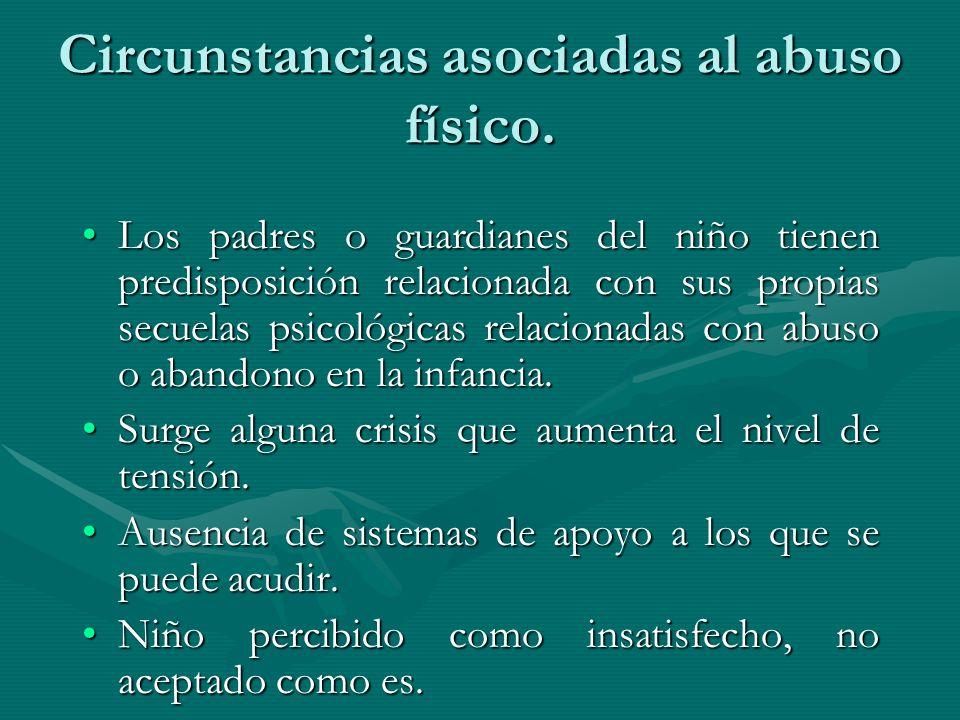 Circunstancias asociadas al abuso físico.